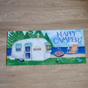 HAPPY CAMPER Door Mat